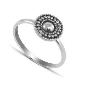 Mandala Ring in Sterling Silver