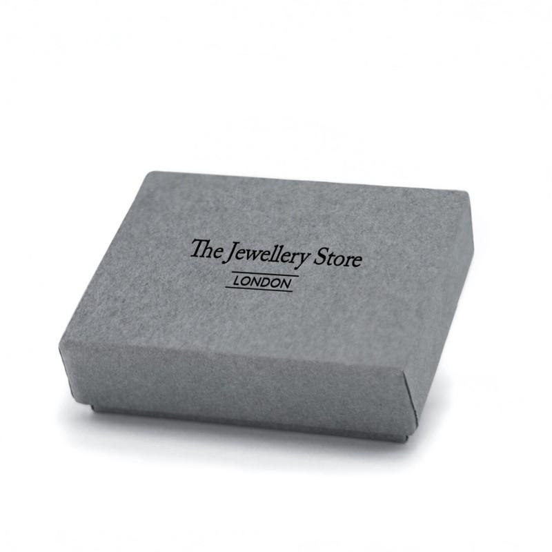 May Birthstone Necklace - Genuine Emerald Gemstone Charm in Sterling Silver 3