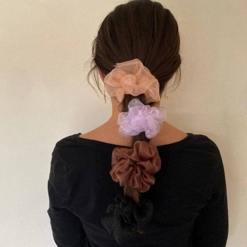 Medium Organza Hair Scrunchies