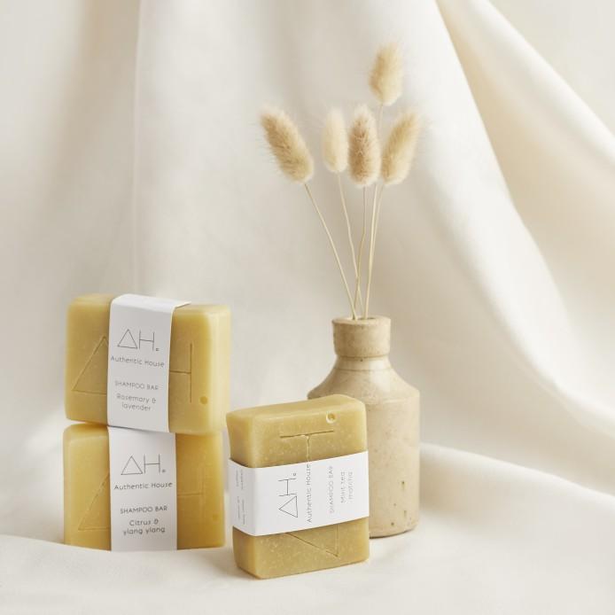 Mint tea matcha shampoo bar 4