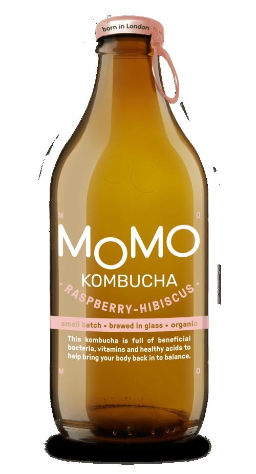 MoMo Raspberry Hibiscus Kombucha