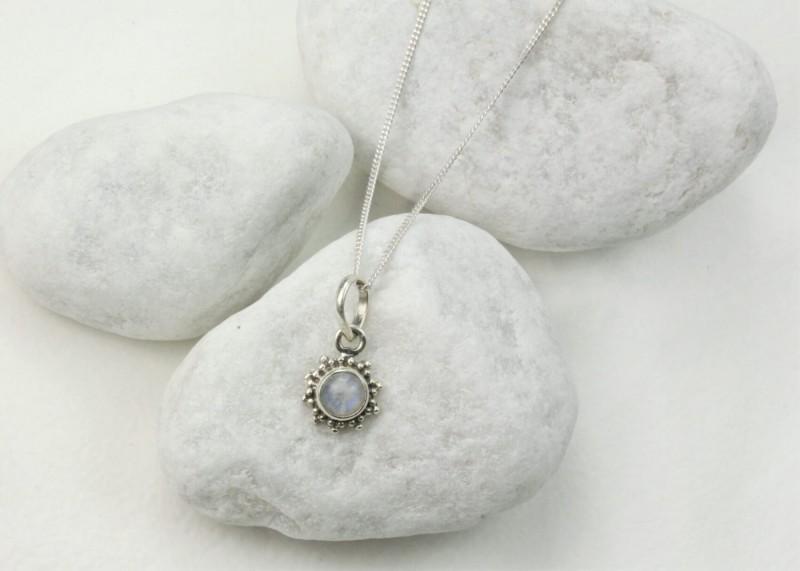 Moonstone Star Motif Jewellery set in 925 Sterling Silver 3