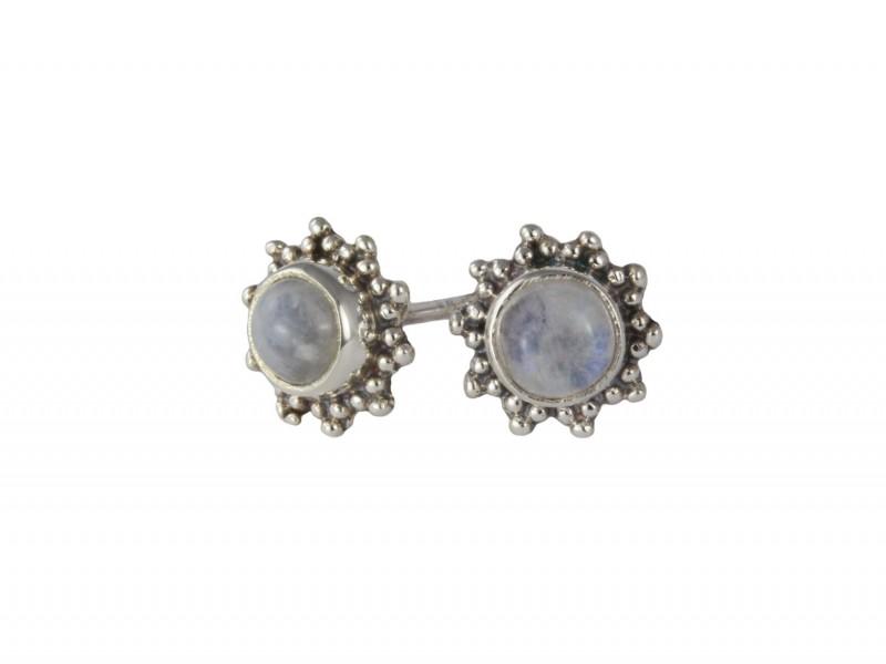 Moonstone Star Motif Jewellery set in 925 Sterling Silver 4