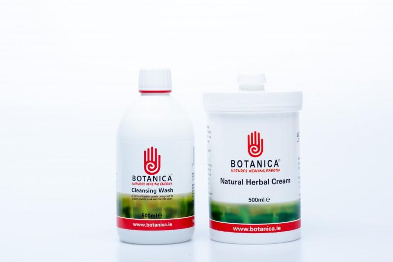 Large Package - (500ml Herbal Cream 500ml Cleansing Wash)