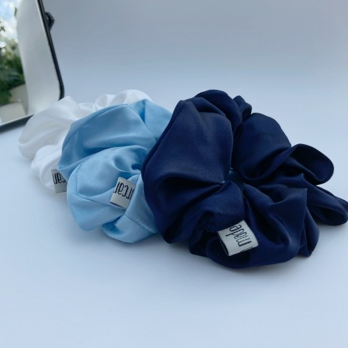 Mulberry Silk Large Hair Scrunchies, Pure Silk Large Hair Scrunchies