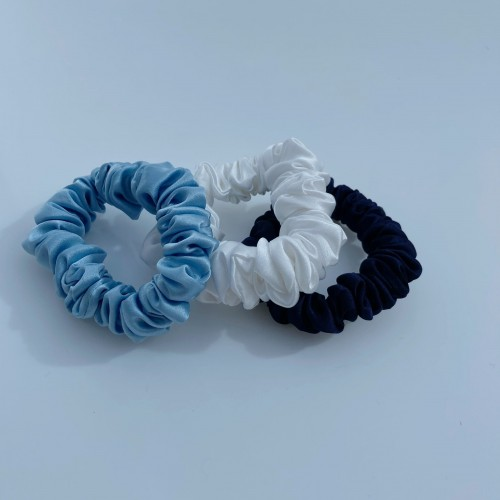 Mulberry Silk Medium Hair Scrunchies, Pure Silk Medium Hair Scrunchies