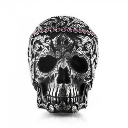 Mystic Burmese Ruby Tiara Skull