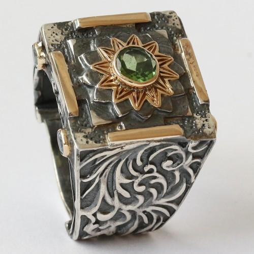 Mystic Evergreen Ring With Tsavorite
