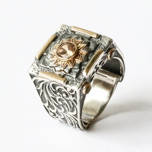 Mystic Forever Ring with Tourmaline and Citrine