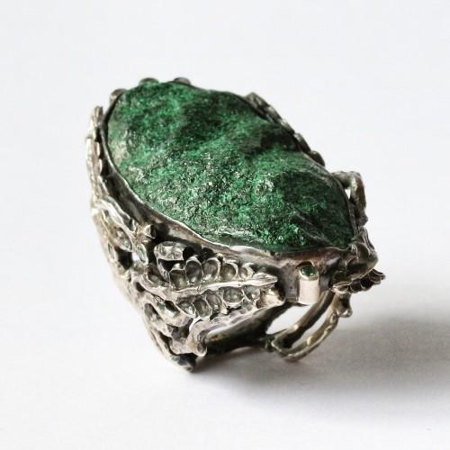 Mystic Green Paradise Ring with Uvarovite