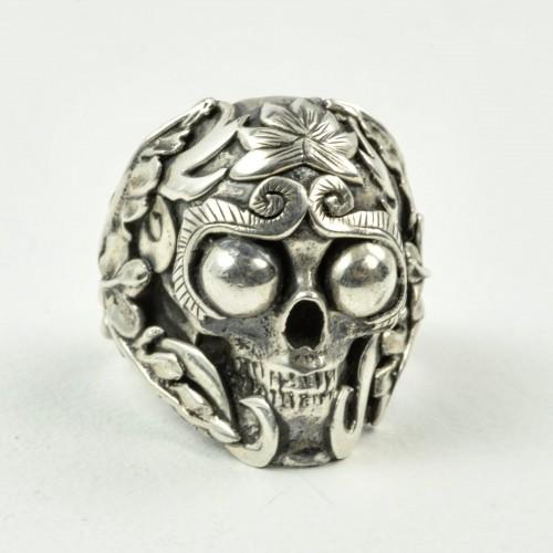 Mystic Meditation Skull Ring