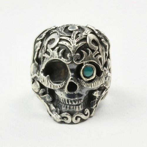 Mystic Moonlight Ring with Turquoise in Sterling Silver