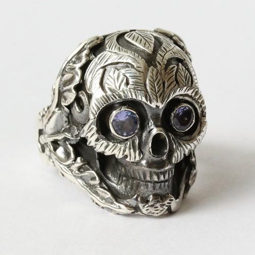 Mystic True Self Skull Ring with Iolite