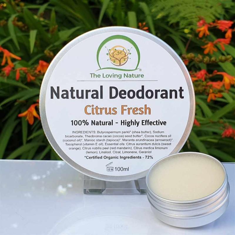 Natural Deodorant Citrus Fresh