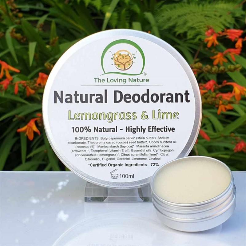 Natural Deodorant Lemongrass & Lime