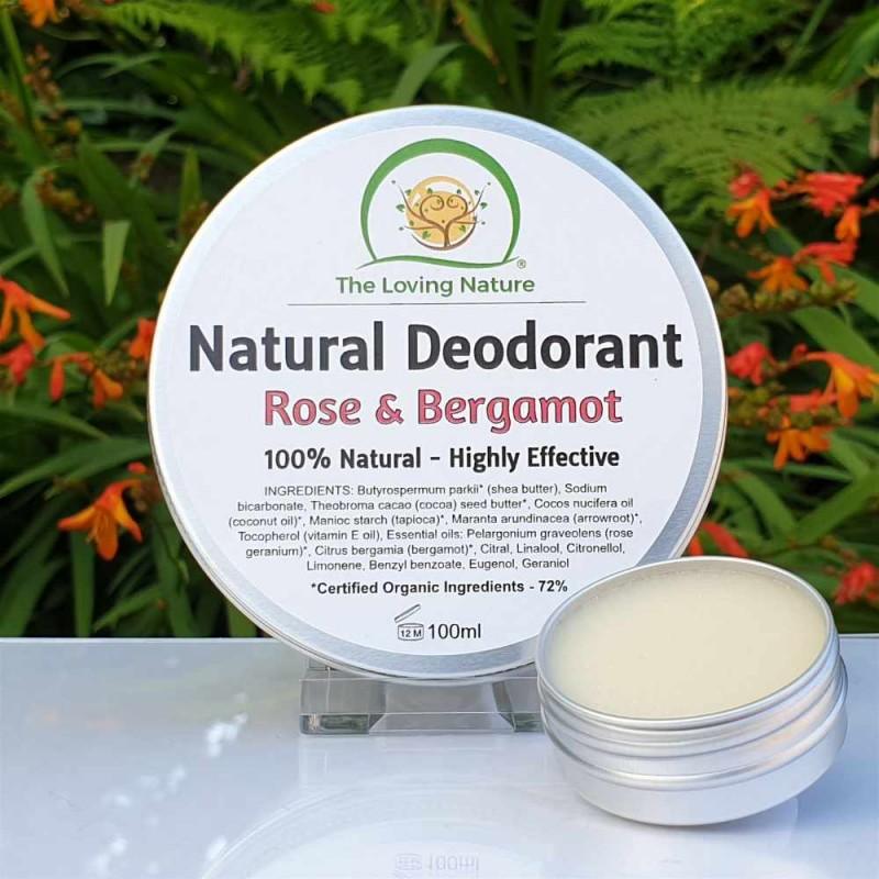 Natural Deodorant Rose & Bergamot