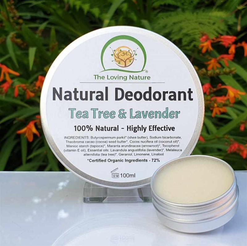Natural Deodorant Tea Tree & Lavender