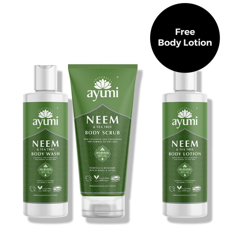 Neem & Tea Tree Body Trio Bundle 700ml