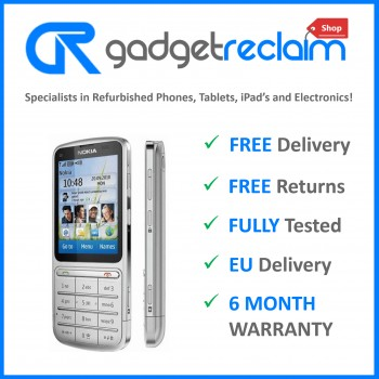 Nokia C3-01 Silver | Three Network | Grade B