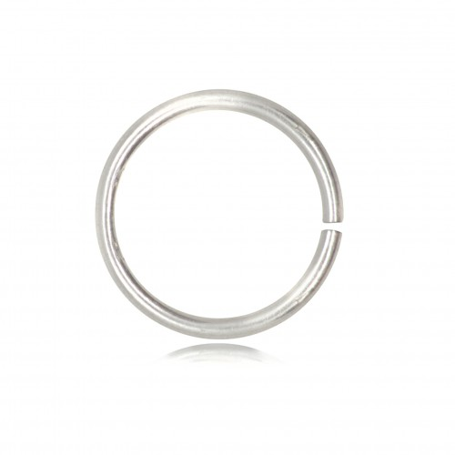 Open Jump Rings in 925 Sterling Silver - 10mm Diameter - 0.9mm Thickness
