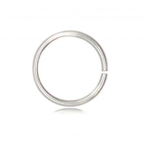 Open Jump Rings in 925 Sterling Silver - 8mm Diameter - 0.9mm Thickness