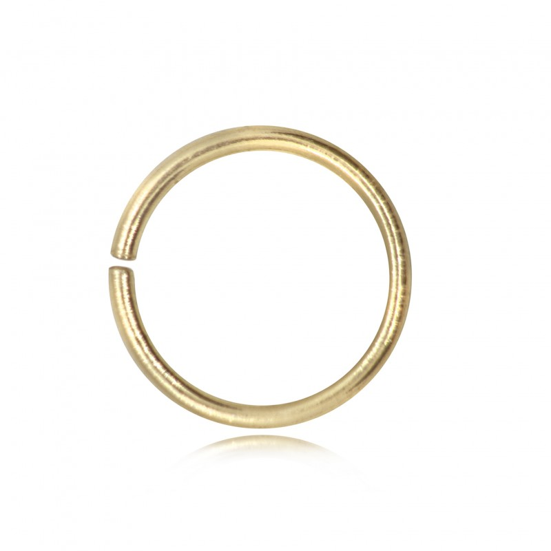 Open Jump Rings in Gold Vermeil - 10mm Diameter - 0.9mm Thickness