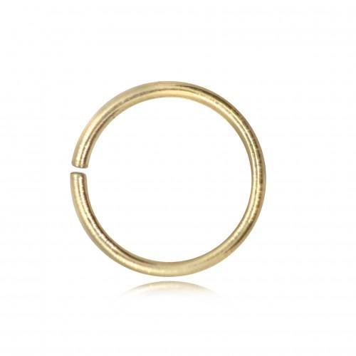 Strong Open Jump Rings in Gold Vermeil - 10mm Diameter - 1.5mm