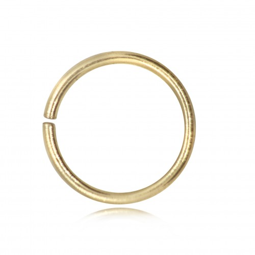 Strong Open Jump Rings in Gold Vermeil - 14mm Diameter - 1.5mm Thickness