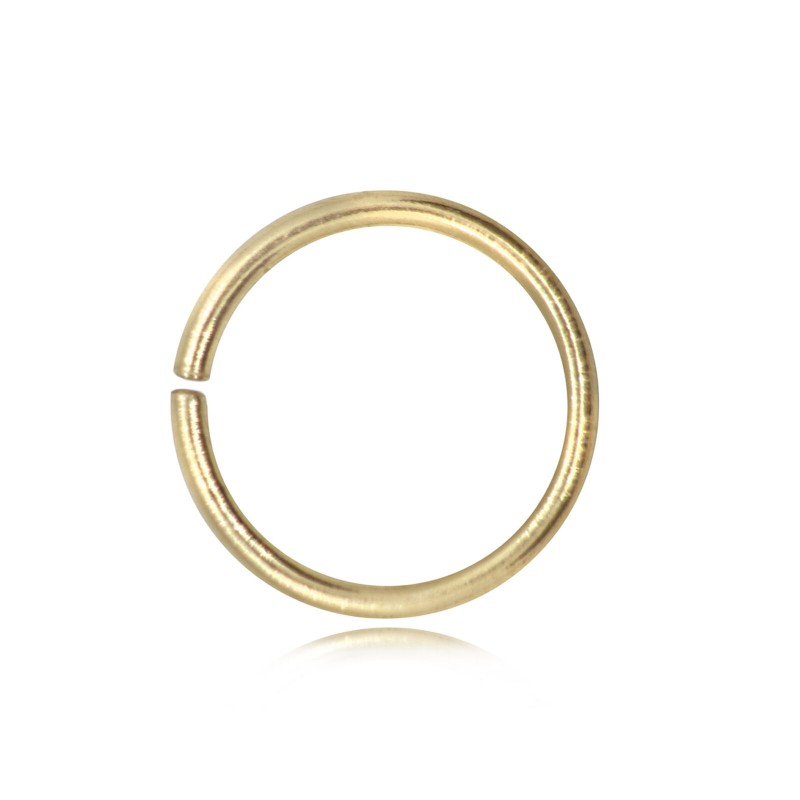 Open Jump Rings in Gold Vermeil - 8mm Diameter - 0.9mm Thickness