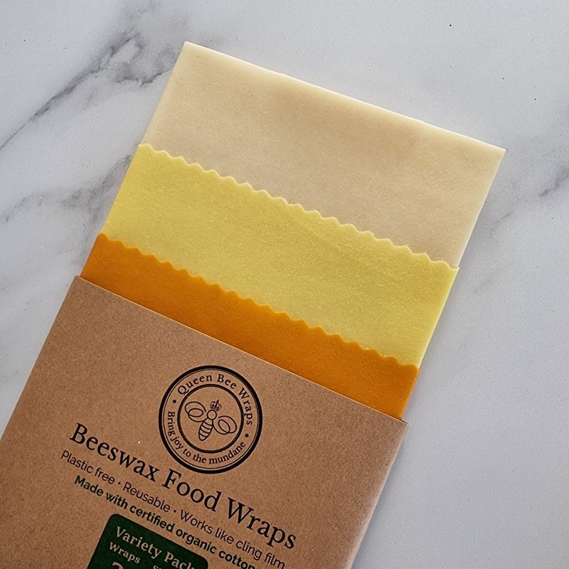 Beeswax Wraps - Plain and Simple Organic Cotton