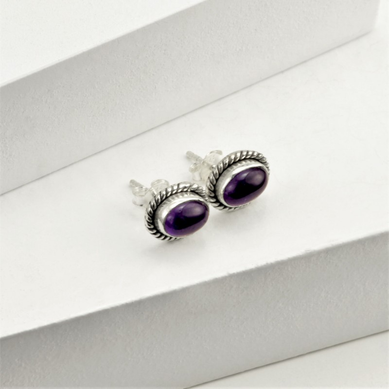 Oval Amethyst Jewellery Set in Sterling Silver 4