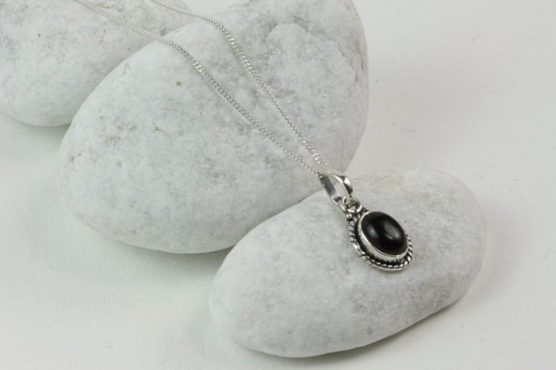 Oval Black Onyx Jewellery Set in Sterling Silver 3