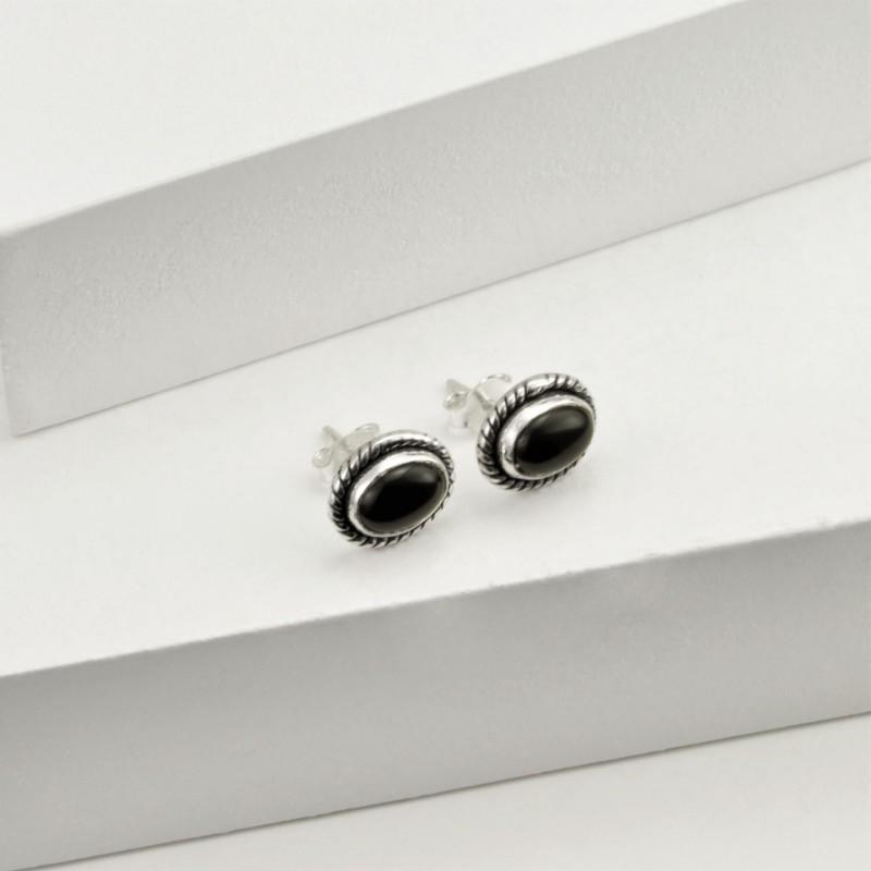 Oval Black Onyx Jewellery Set in Sterling Silver 4
