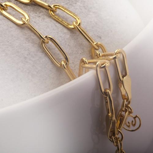 Paper Clip Chain in Gold Vermeil