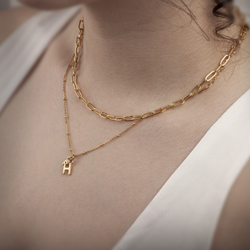 Paper Clip Chain in Gold Vermeil 2