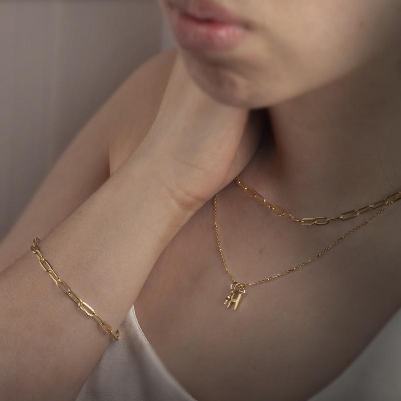 Paper Clip Chain in Gold Vermeil 3