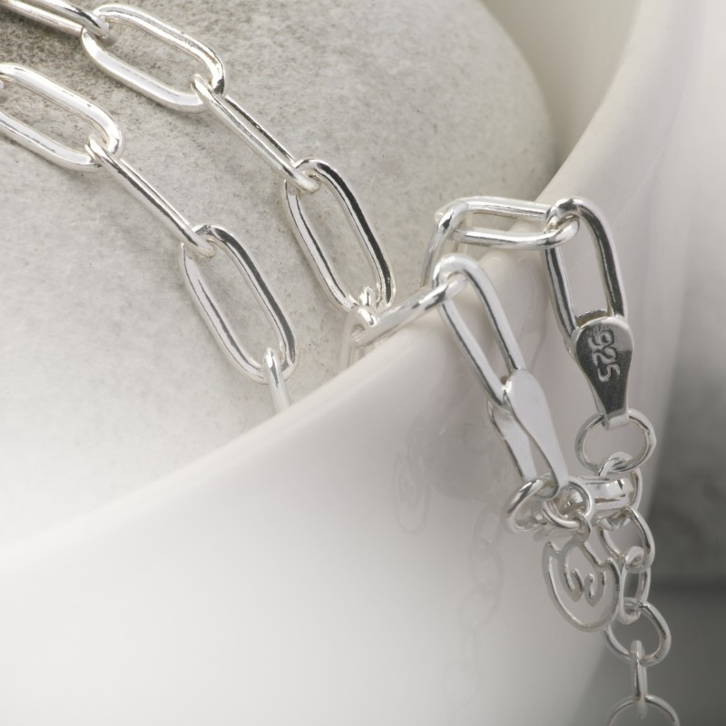 Paper Clip Chain in Sterling Silver 1