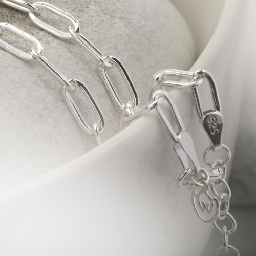 Paper Clip Chain in Sterling Silver