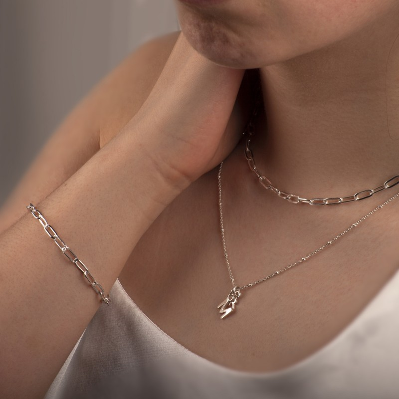 Paper Clip Chain in Sterling Silver 3