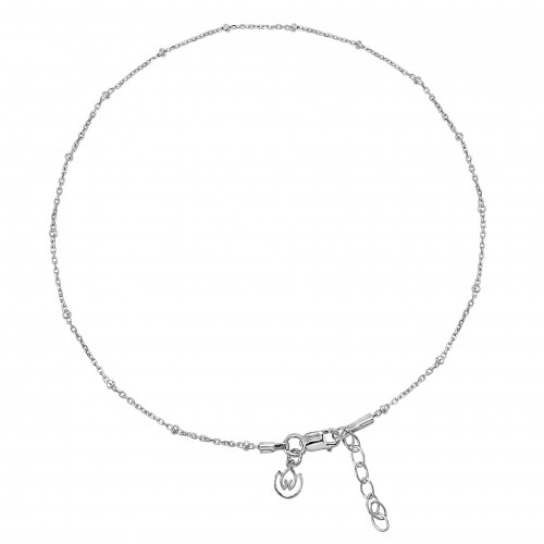 Satellite Chain Anklet in Sterling Silver and Gold Vermeil