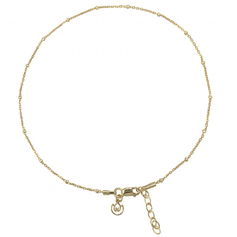 Satellite Chain Anklet in Sterling Silver and Gold Vermeil 2