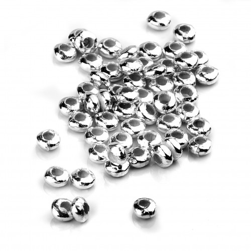 Plain Rondelle Spacer Beads in Sterling Silver