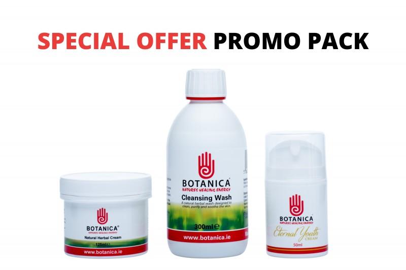 Promo Pack (Eternal Youth 50ml, Botanica Cleansing Wash 300ml & Herbal Cream 125ml)