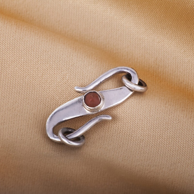 S Hook Clasp Finding for Necklace or Bracelet,18mm Length, Nepalese Genuine Coral 2