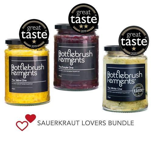 Sauerkraut Lovers 3-Jar Bundle