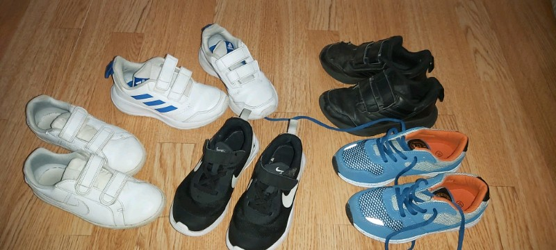 Adidas boys trainers size 11 and 12