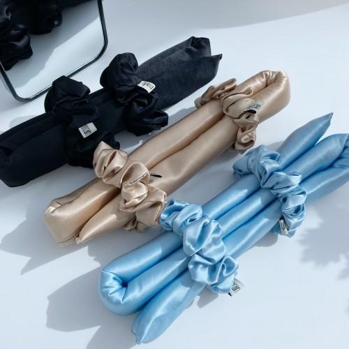 Silk Curling Ribbon, Heatless Hair Curling Set With Scrunchies