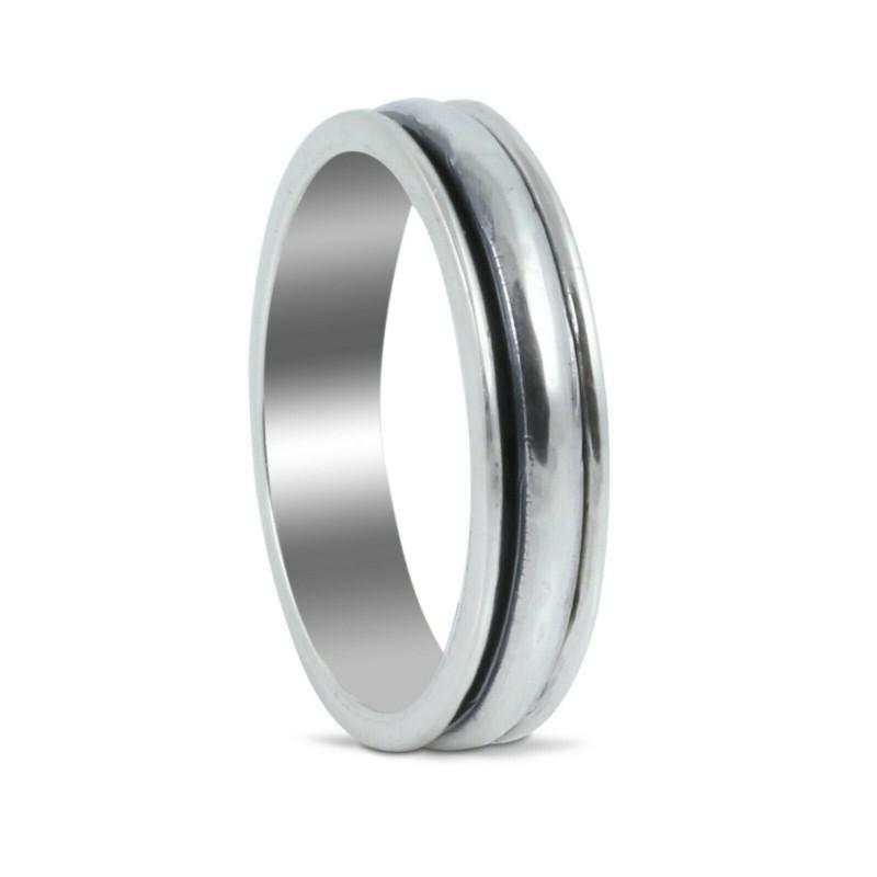 Spinner Plain band in 925 sterling silver, meditation ring