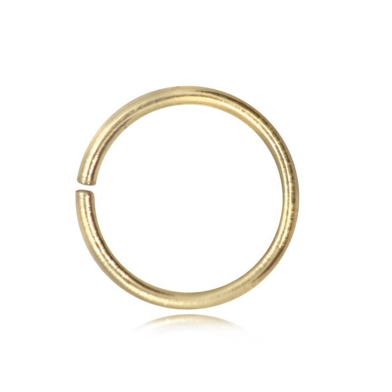 Strong Open Jump Rings in Gold Vermeil - 12mm Diameter - 1.5mm Thickness