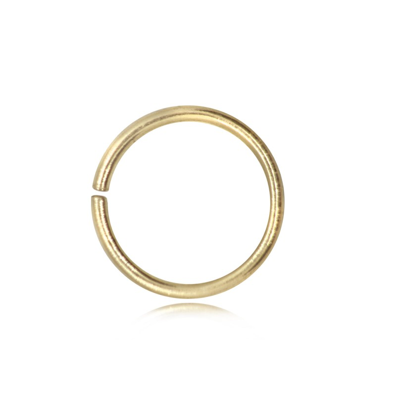 Strong Open Jump Rings in Gold Vermeil - 6mm Diameter - 1.5mm Thickness